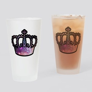 Cosmic Crown Drinking Glass