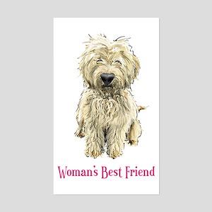 Woman's Best Friend Rectangle Sticker