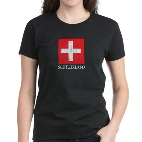 Switzerland Flag Women's Dark T-Shirt