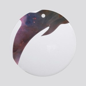 Cosmic Dolphin Ornament (Round)