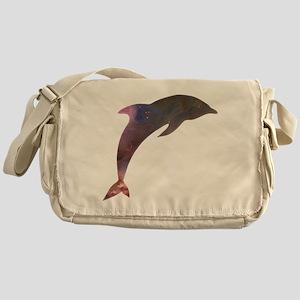 Cosmic Dolphin Messenger Bag