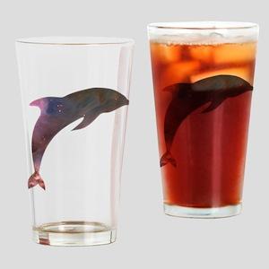 Cosmic Dolphin Drinking Glass