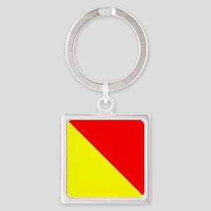 Nautical Flag Code Oscar Keychains