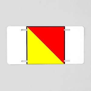Nautical Flag Code Oscar Aluminum License Plate