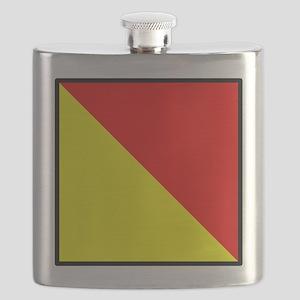 Nautical Flag Code Oscar Flask