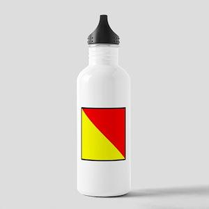 Nautical Flag Code Oscar Water Bottle