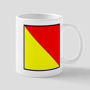 Nautical Flag Code Oscar Mug
