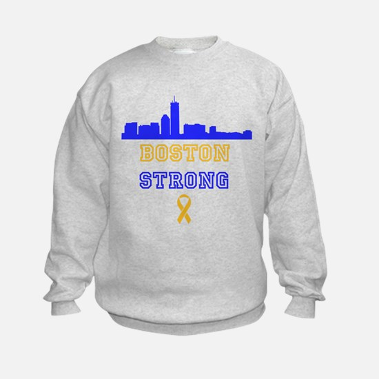 Boston Strong Skyline Blue and Gold Sweatshirt