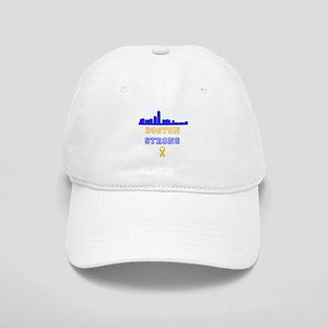 Boston Strong Skyline Blue and Gold Baseball Cap