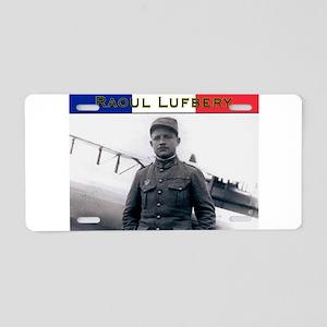 Raoul Lufbery-fr Aluminum License Plate