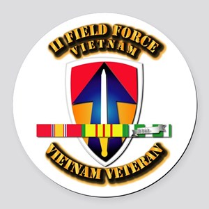 II Field Force Round Car Magnet
