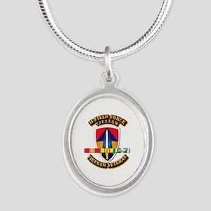 II Field Force Silver Oval Necklace