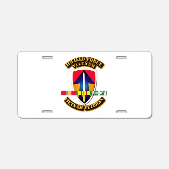 II Field Force Aluminum License Plate