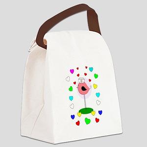 RN ff bird 7 Canvas Lunch Bag