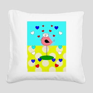 RN ff bird 6 Square Canvas Pillow
