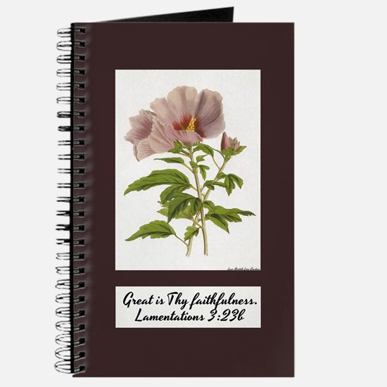 Constans Hibiscus Journal - Bible Verse on Cover