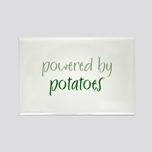 Powered By potatoes Rectangle Magnet