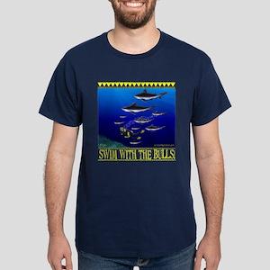 Swim with the Bulls Dark T-Shirt