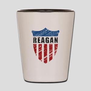 Reagan Patriot Shield Shot Glass