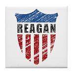 Reagan Patriot Shield Tile Coaster
