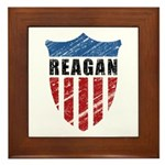 Reagan Patriot Shield Framed Tile