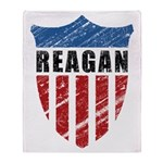 Reagan Patriot Shield Throw Blanket