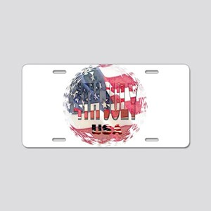 4th july Aluminum License Plate