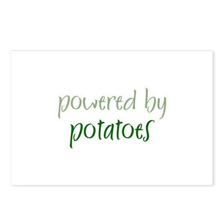 Powered By potatoes Postcards (Package of 8)