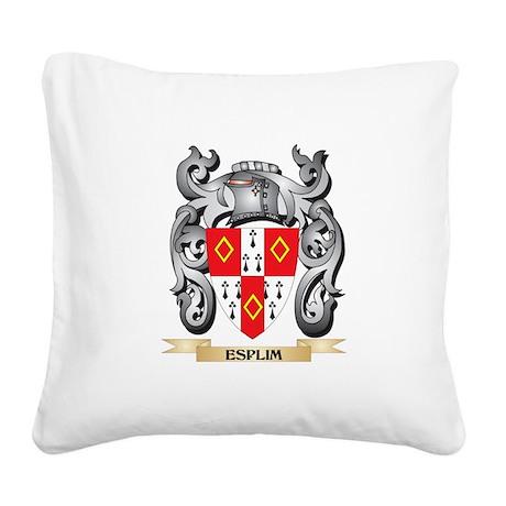 Esplim Coat of Arms - Family Square Canvas Pillow
