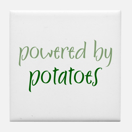 Powered By potatoes Tile Coaster