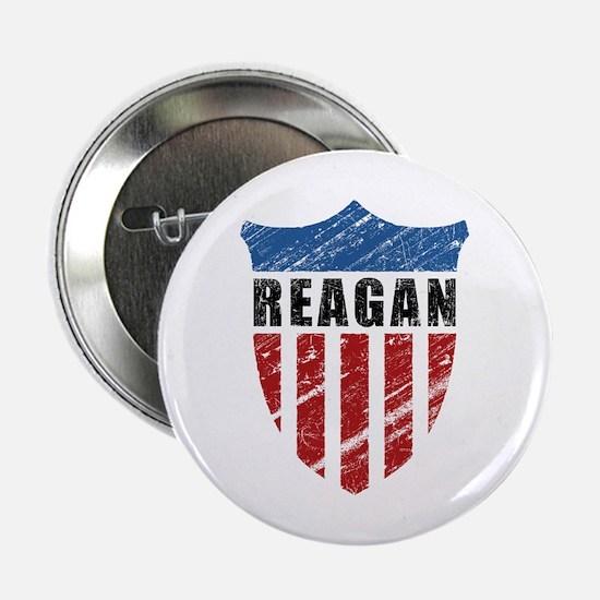 "Reagan Patriot Shield 2.25"" Button"