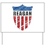 Reagan Patriot Shield Yard Sign