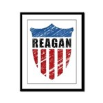 Reagan Patriot Shield Framed Panel Print