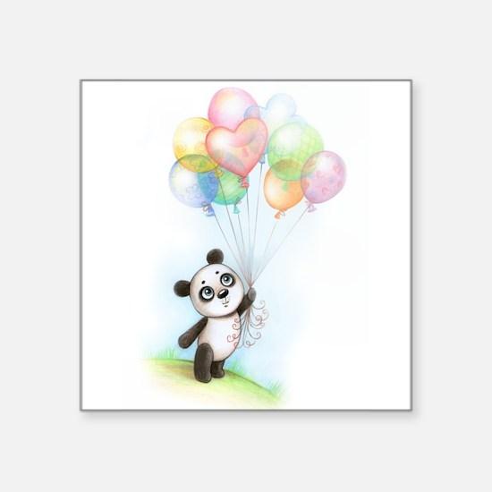 Panda and balloons Sticker