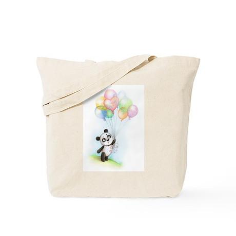 Panda and balloons Tote Bag