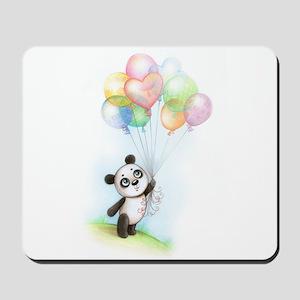 Panda and balloons Mousepad