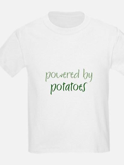 Powered By potatoes Kids T-Shirt