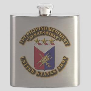 COA - Infantry - 1st Filipino Regiment Flask