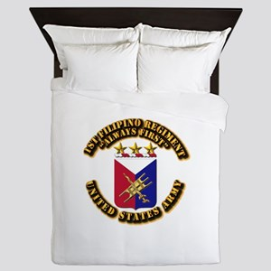 COA - Infantry - 1st Filipino Regiment Queen Duvet