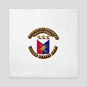 COA - Infantry - 1st Filipino Regiment Queen Duvet