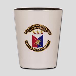COA - Infantry - 1st Filipino Regiment Shot Glass
