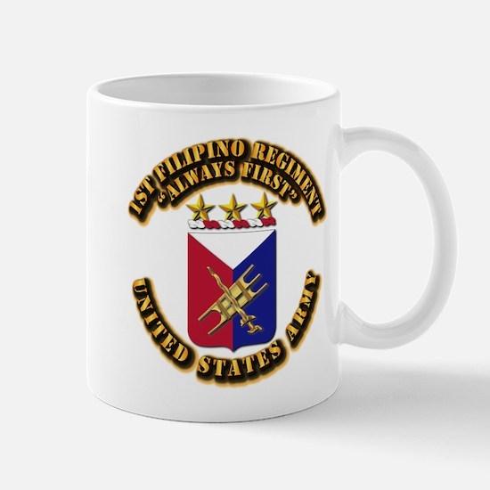 COA - Infantry - 1st Filipino Regiment Mug