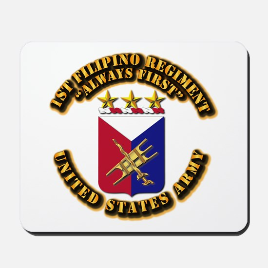 COA - Infantry - 1st Filipino Regiment Mousepad