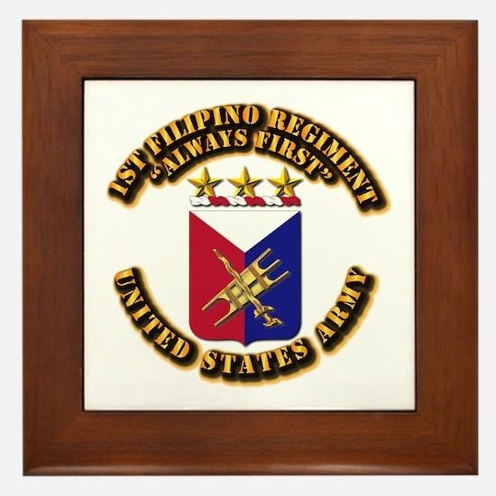 COA - Infantry - 1st Filipino Regiment Framed Tile