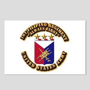 COA - Infantry - 1st Filipino Regiment Postcards (