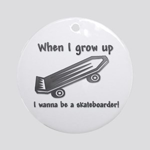 When I Grow Up (Skateboarder) Ornament (Round)