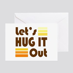 'Let's Hug It Out' Greeting Card