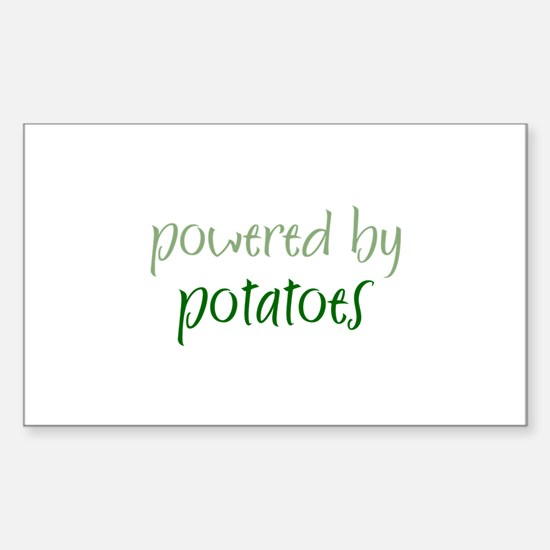 Powered By potatoes Rectangle Decal