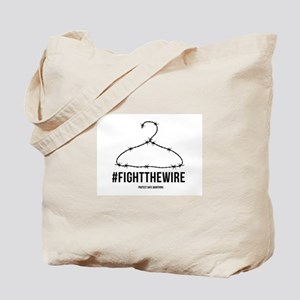 #FightTheWire White Tote Bag