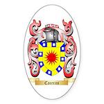 Caceras Sticker (Oval 10 pk)